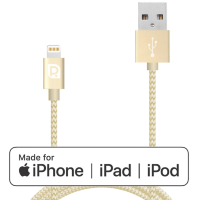 Кабель REQUIRED Braided MFI Lightning to USB Шампань
